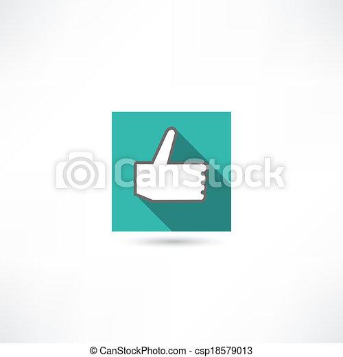 thumb up icon - csp18579013