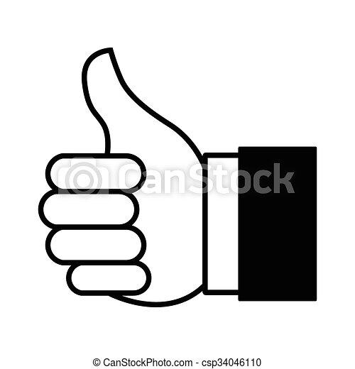 Thumb Up Icon - csp34046110