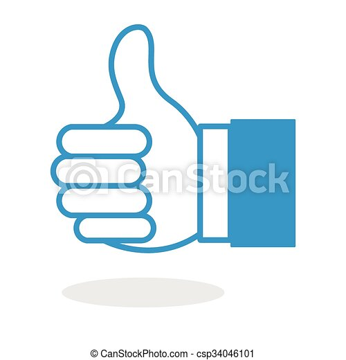 Thumb Up Icon - csp34046101
