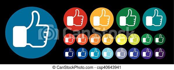 Thumb up like - csp40643941