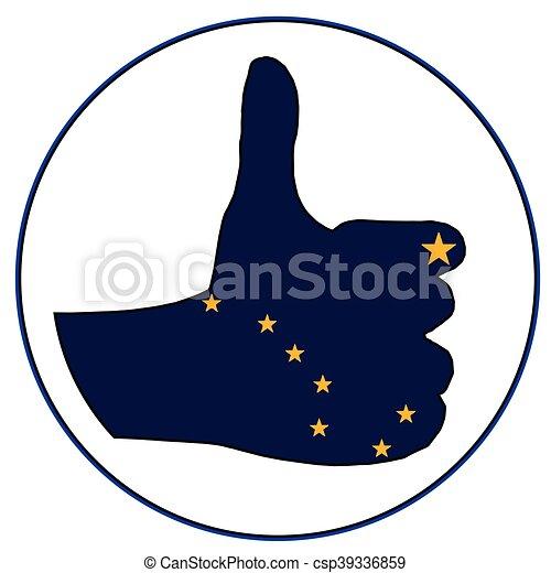 Thumbs Up Alaska - csp39336859