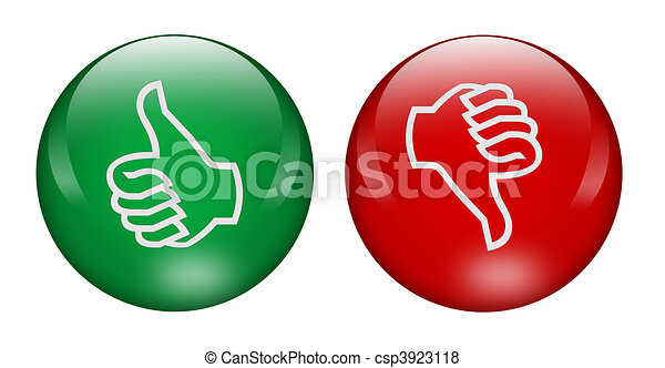 Thumbs up and down buttons - csp3923118