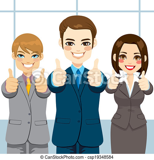 Thumbs Up Business People - csp19348584