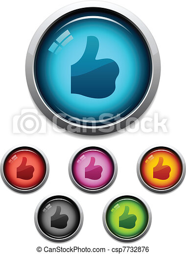 Thumbs-up button icon - csp7732876