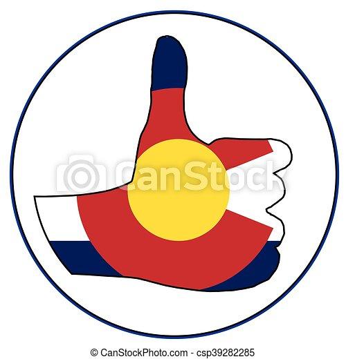 Thumbs Up Colorado - csp39282285