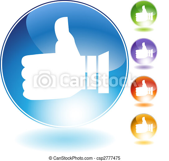 Thumbs Up Crystal Icon - csp2777475