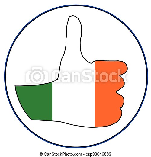 Thumbs Up Eire - csp33046883