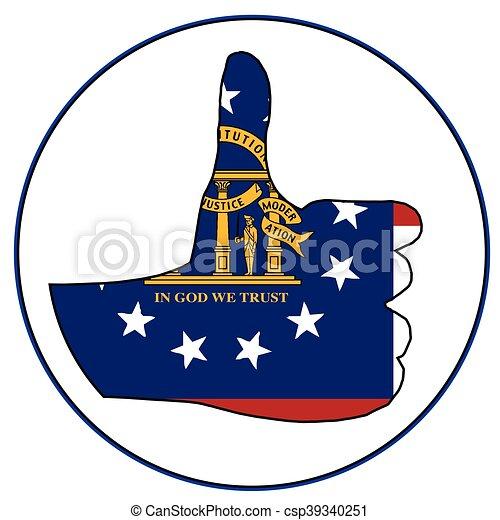 Thumbs Up Georgia - csp39340251
