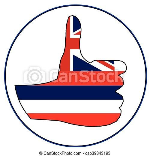 Thumbs Up Hawaii - csp39343193