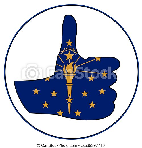 Thumbs Up Indiana - csp39397710