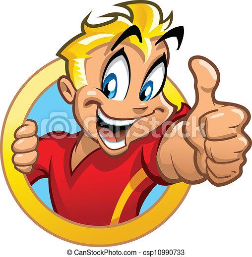 Thumbs Up Kid - csp10990733