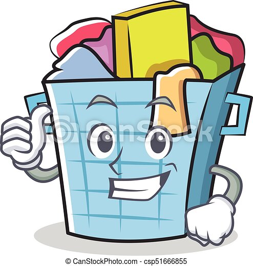 thumbs up laundry basket character cartoon vector clipart vector rh canstockphoto com laundry clipart images free laundry clipart free
