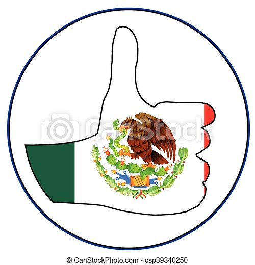 Thumbs Up Mexico - csp39340250