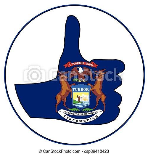 Thumbs Up Michigan - csp39418423