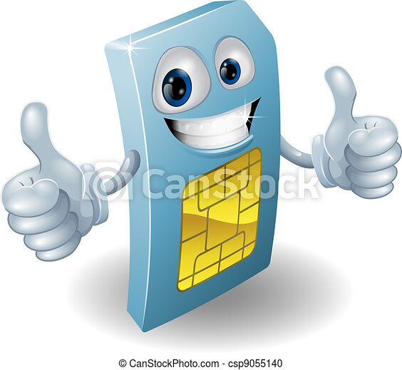 Thumbs up phone sim card person - csp9055140