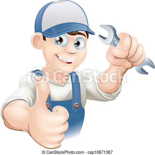 Thumbs up plumber or mechanic - csp10671367
