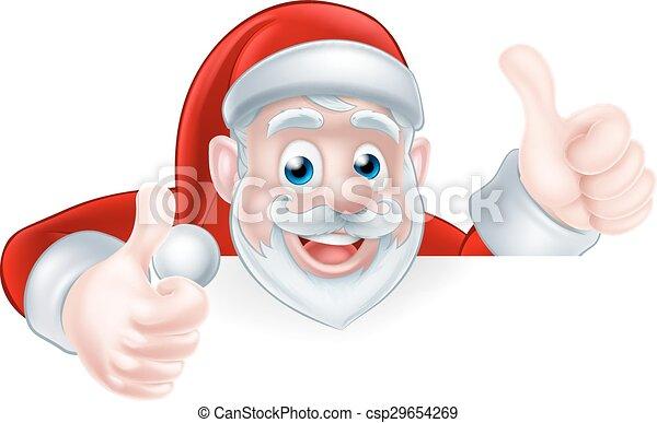 Thumbs Up Santa - csp29654269