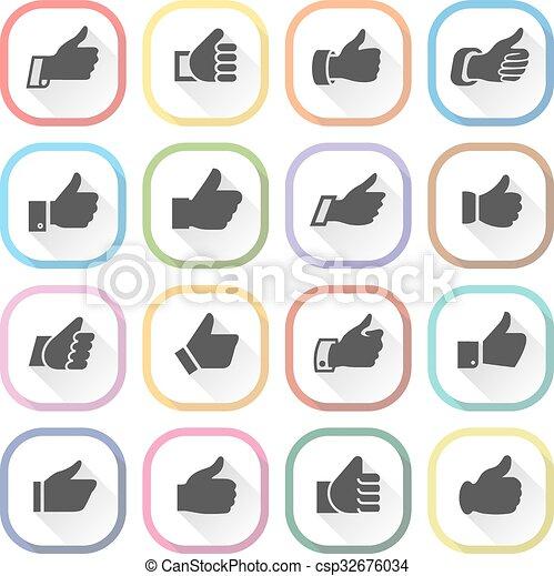 Thumbs up, set light buttons - csp32676034