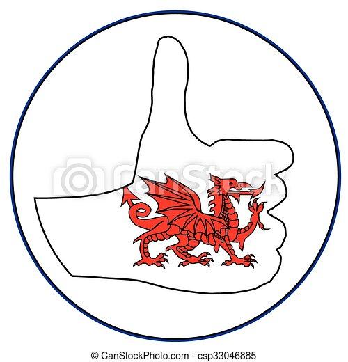 Thumbs Up Wales - csp33046885