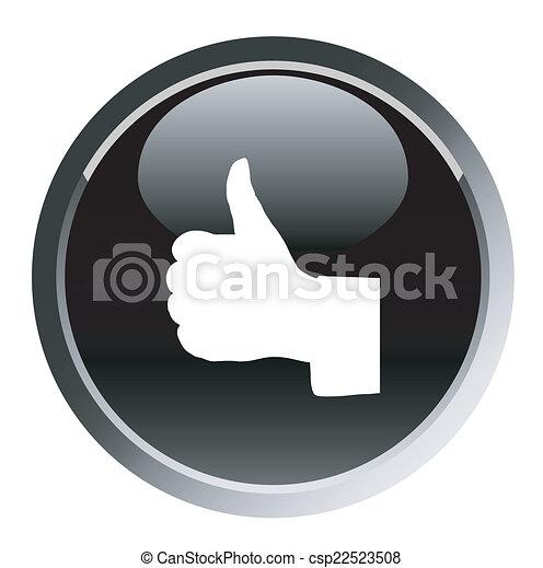 thumbs up web black button - csp22523508