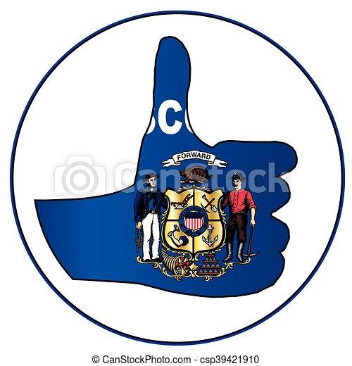 Thumbs Up Wisconsin - csp39421910