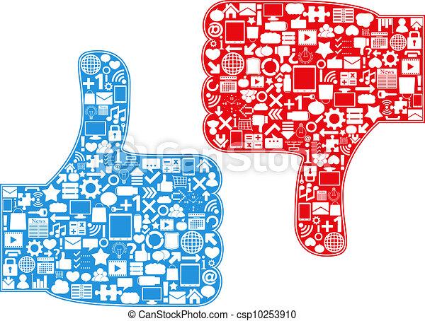 Thumbs Up/Down Symbols - csp10253910