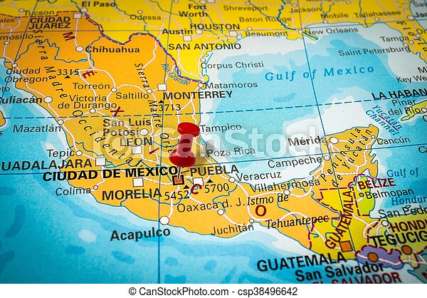 Thumbtack in a map, pushpin pointing at Mexico city on a map of latin america, a map of roatan, a map of havana, a map of tamaulipas, a map of los cabos, a map of the southwest, a map of portland, a map of algiers, a map of popocatepetl, a map of milan, a map of rio de janeiro, a map of nassau, a map of zona rosa, a map of caracas, a map of everglades national park, a map of montevideo, a map of sinaloa, a map of the holy land, a map of budapest, a map of harare,
