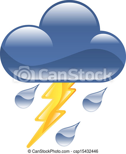 El icono de Clima Relámpago Thunder thun - csp15432446