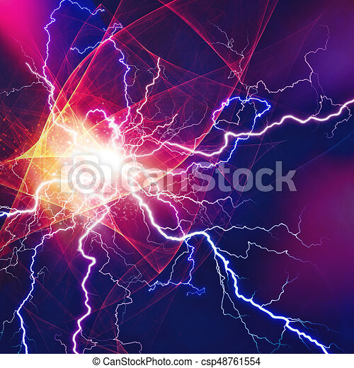 Thunder bolt, industrial and science abstract backgrounds - csp48761554