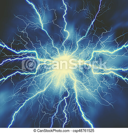 Thunder bolt, industrial and science abstract backgrounds - csp48761525