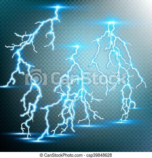 Thunder-storm and lightnings. EPS 10 - csp39848628