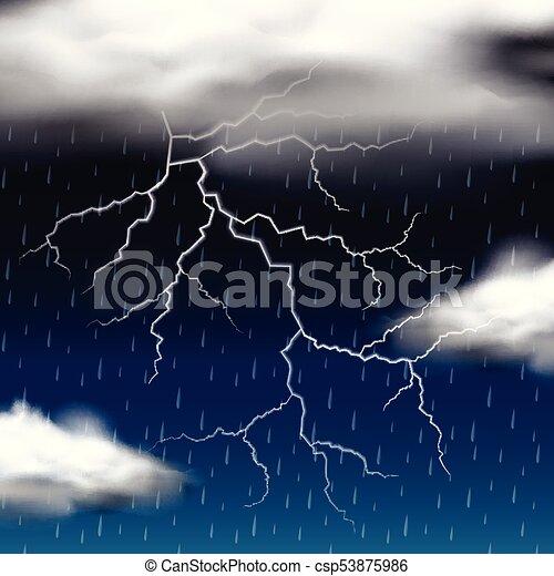 Thunder storm at night - csp53875986