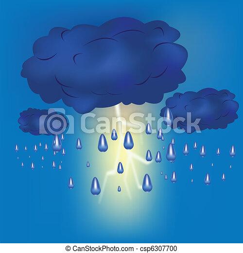 Thundercloud with rain - csp6307700