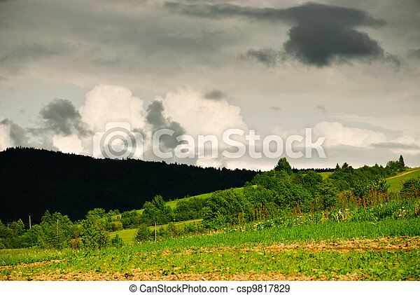 Thunderstorm clouds  - csp9817829