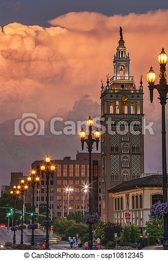 Thunderstorm Over Kansas City - csp10812345