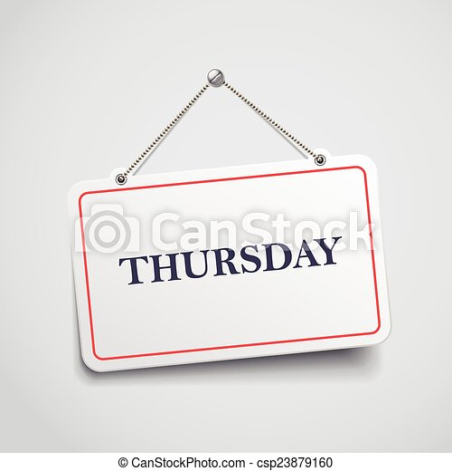 Thursday hanging sign - csp23879160