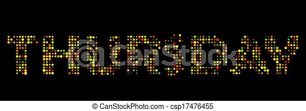 Thursday led sign - csp17476455