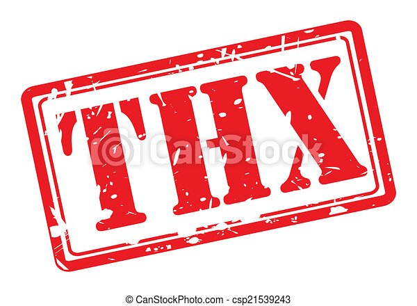 Thx red stamp text - csp21539243