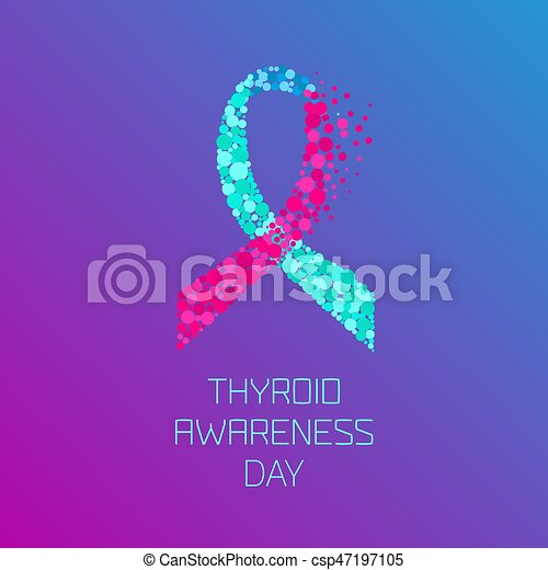 Thyroid Awareness Ribbon Thyroid Disease Awareness Day Poster
