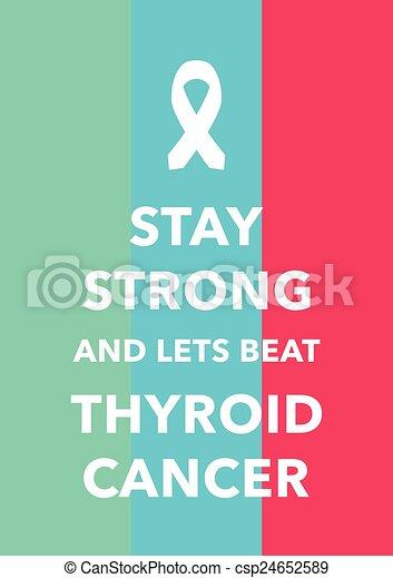 thyroid cancer poster - csp24652589