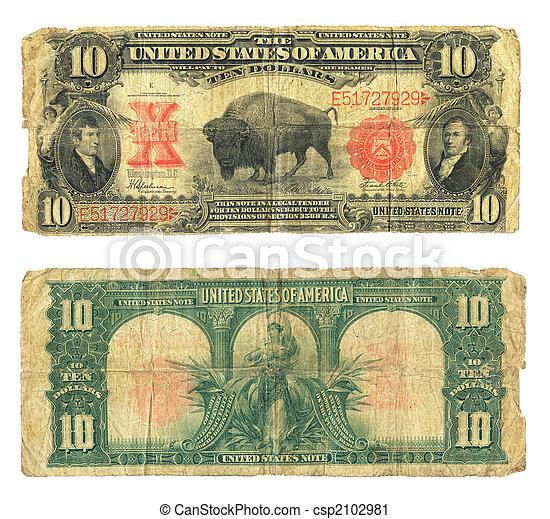 ti, lovforslag, dollar, amerikansk. valuta, 1901 - csp2102981