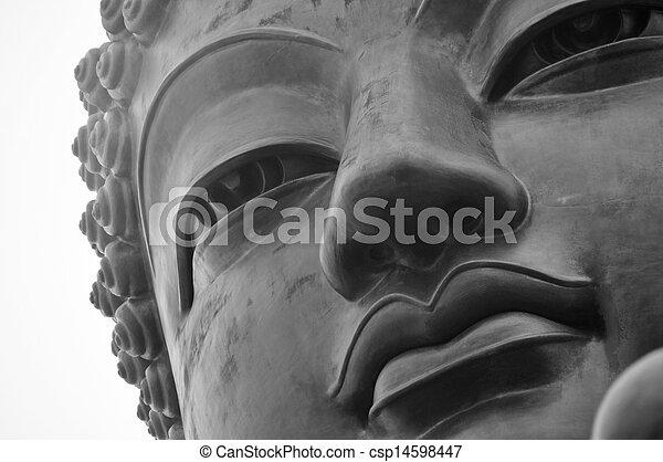 tian bronzent, bouddha - csp14598447
