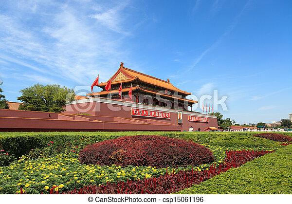 Tiananmen en Beijing - csp15061196