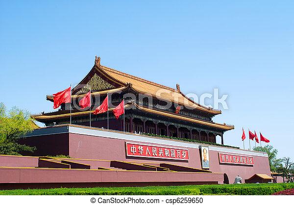 Tiananmen Gate ( Gate of Heavenly Peace), Beijing, China - csp6259650