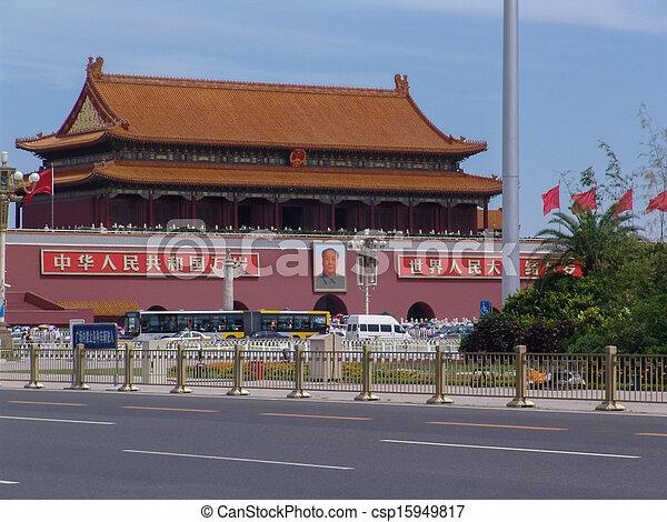 Tiananmen en Pekín - csp15949817