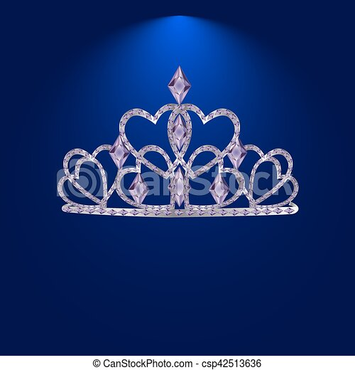 tiara with precious stones 1 - csp42513636