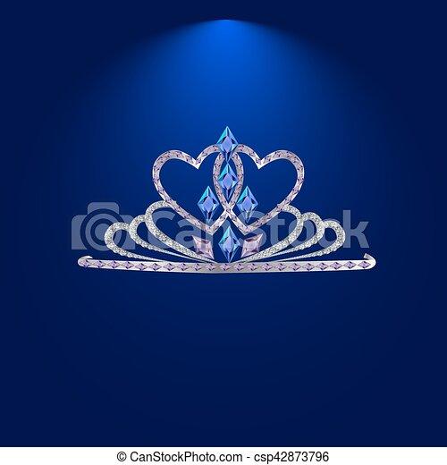 tiara with precious stones - csp42873796
