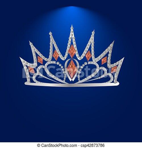 tiara with precious stones - csp42873786