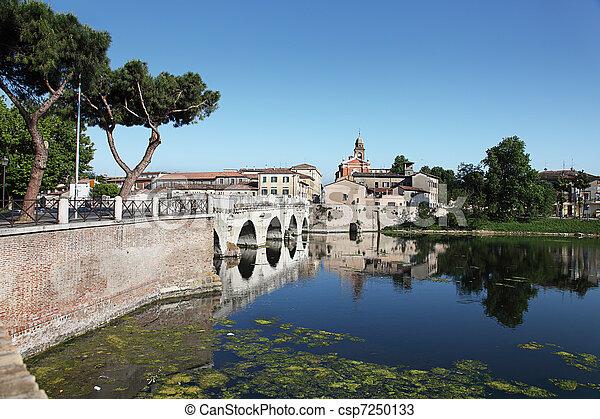 tiberius', bridge., olaszország, rimini - csp7250133