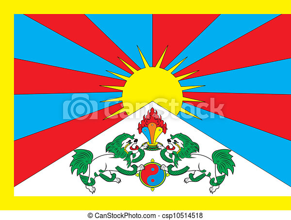 Tibet Flag Various Vector Flags State Symbols Emblems Of